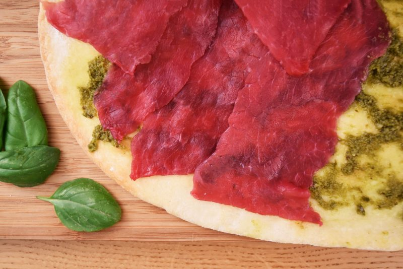 pizza au carpaccio